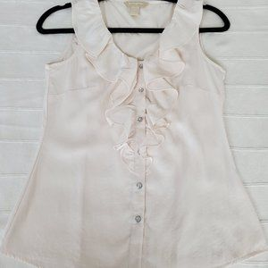 Banana Republic Ruffled Front Top